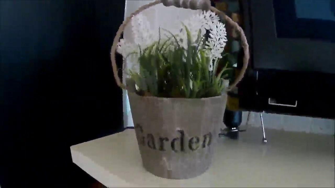 Uraqt Fleurs Artificielles Decoratif Petit Pot De Deco Sympa Youtube