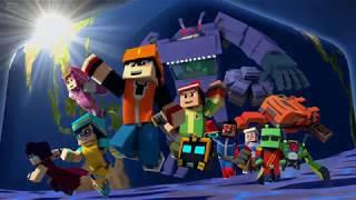 """BoBoiBoy Galaxy Opening """"Dunia Baru"""" ( Minecraft Remake Animation )"""
