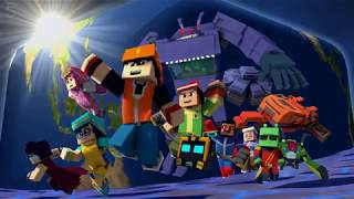 "Download BoBoiBoy Galaxy Opening ""Dunia Baru"" ( Minecraft Remake Animation )"