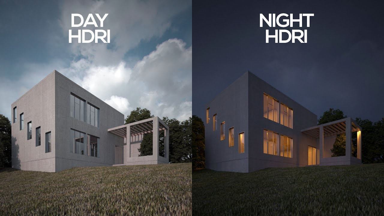 Vray Exterior HDRI tutorial in 3ds Max | DAY & NIGHT