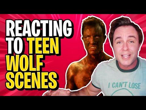 Reacting to my favorite TEEN WOLF scenes! (Top 5!)