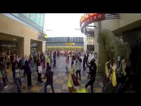 Видео: Очень веслый, танцевальный флэшмоб США. Калифорния. 2013г