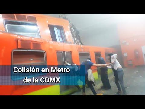 Chocan Trenes De Metro En Estación Tacubaya
