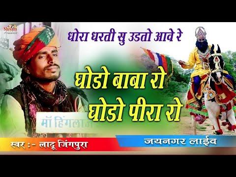 धोरा री धरती सु उडतो आवे घोड़ो बाबे रो II Ladu Jingpura II जय नगर लाईव II Shivam Studio Live