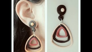 How To Make Quilling Earring Tutorial /Design 20