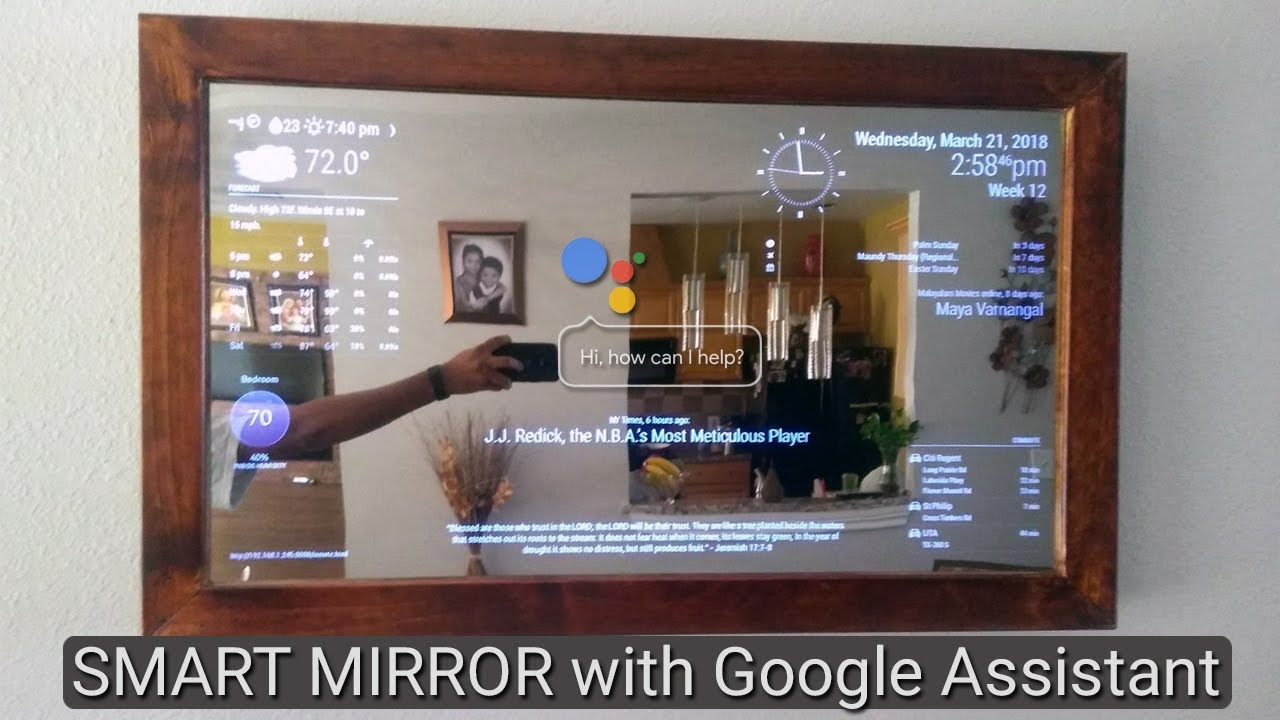 Smart Mirror with AI using Raspberry Pi plays youtube