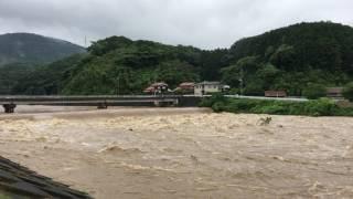平成29年7月5日 大雨による周布川の増水