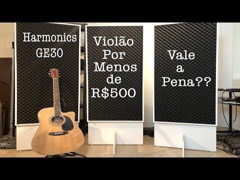 Opção de violão com bom custo benefício! Harmonics GE30