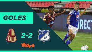 Tolima vs Millonarios (2-2) Liga BetPlay Dimayor 2020 | Fecha 12