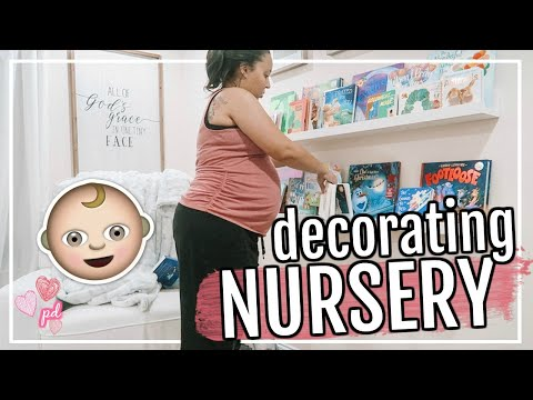 DECORATING OUR BABY NURSERY! | CLEAN & DECORATE WITH ME 2019 | Page Danielle
