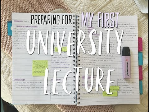 Preparing for my VERY FIRST University Lecture || Prep / Study with Me!