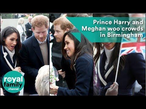 Prince Harry and Meghan woo crowds in Birmingham