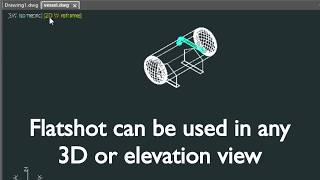 Create a quick 2D CAD drawing from a 3D model