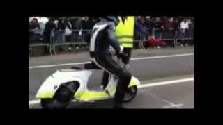 [Vespa Drag] Knalpot 2 Tak Racing Motor Vespa Modifikasi