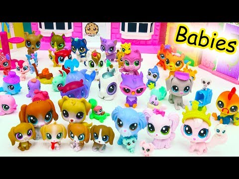 Thumbnail: Littlest Pet Shop Dog, Cat, Animal Family Mom, Dad & Baby LPS Haul - Cookie Swirl C