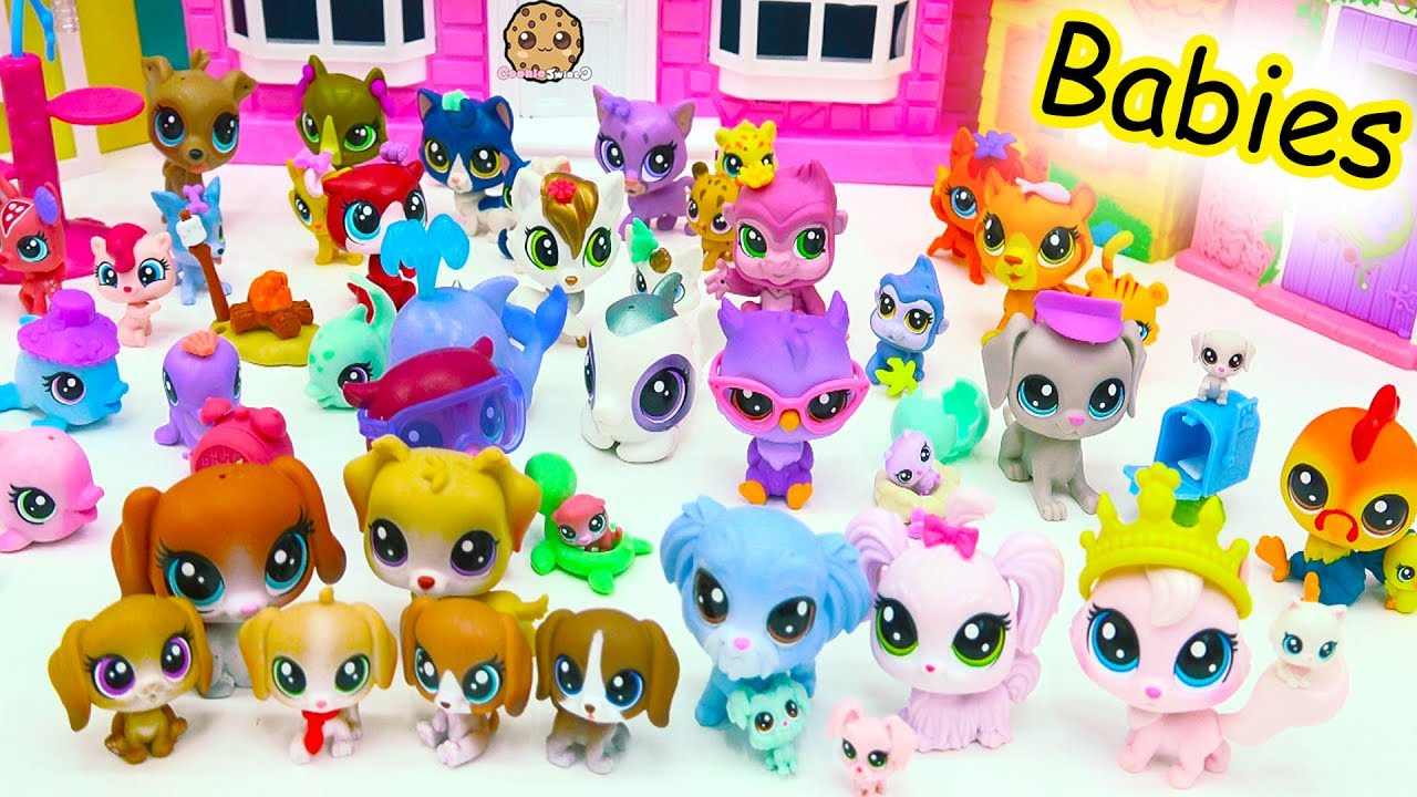 Littlest Pet Shop Dog Cat Animal Family Mom Dad Baby Lps Haul