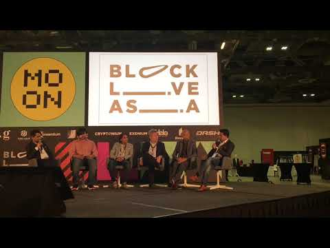 Kishore M speaking at a panel in  www.blocklive.asia