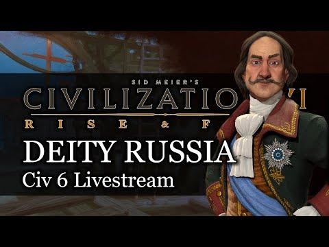 Deity Russia Civ 6 Rise & Fall Gameplay Stream