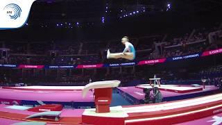 Lola SCHLEICH (LUX) - 2018 Artistic Gymnastics Europeans, junior qualification vault