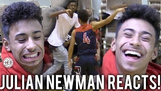 """Julian Newman REACTS TO """"OVERRATED"""" CHANTS GAME! SHUSHES THE CROWD AND POINTS AT SCOREBOARD! OSN"""