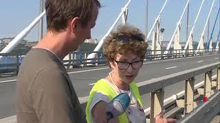 Три авто столкнулись на Русском мосту
