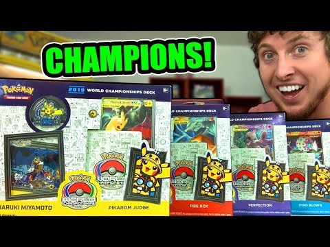THE WINNING POKEMON CARD DECKS From The WORLD CHAMPIONSHIPS! Opening All 4 TCG Boxes