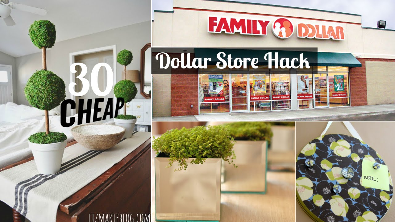 30 decor ideas from dollar store youtube for Store for home decor
