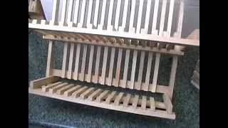 T&G Folding Plate Rack & Cutlery Holder in Hevea review