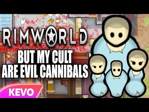 Rimworld but my cult are evil cannibals