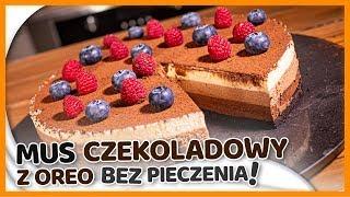 Potrójnie czekoladowy mus z OREO - SZYBKIE CIASTO BEZ PIECZENIA