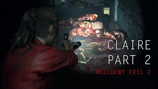 Resident Evil 2 - Claire Redfield Gameplay Part 2 Racoon City PD
