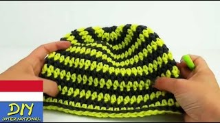 DIY Merajut topi dingin yang bagus dan hangat