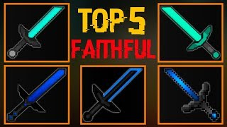 TOP 5 Faithful PvP Texture Packs (FPSBOOST/NOLAG FAITHFUL EDITS 1.12.2/1.12)
