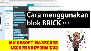 LEGO Makecode Microsoft : Brick program