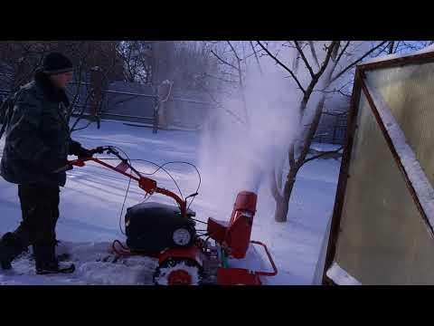 Мотоблок агат чистит снег