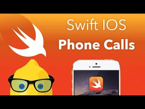 Swift IOS Tutorial Phone Calls - XCode 6 IOS 8 Geeky Lemon Development