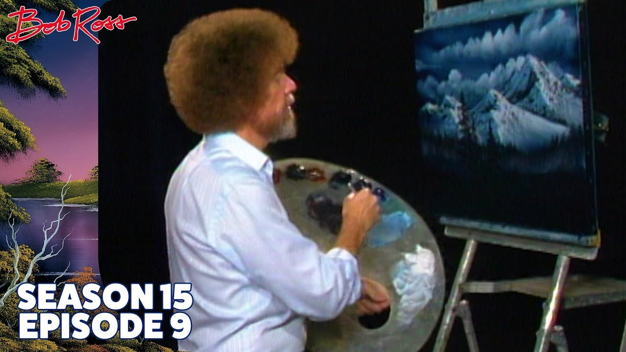 Image result for bob ross christmas eve snow