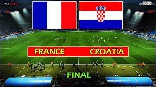 PES 2018 | FINAL - FRANCE vs CROATIA | Full Match & Amazing Goals & Penalty Shootout | Gameplay PC