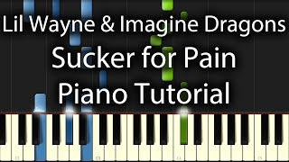lil wayne wiz khalifa imagine dragons   sucker for pain tutorial how to play on piano