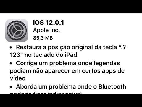 Apple liberou o IOS 12.0.1 oficial! Saiba oque  mudou.
