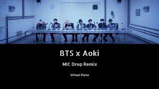 BTS x Steve Aoki- MIC Drop Remix || Roblox Piano