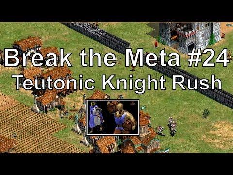 "Aoe2 ""Break the Meta"" #24: Teutonic Knight & Petard Rush (Live!)"