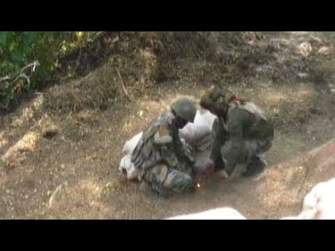 Dramatic Video Shows Soldiers Detonating Unexploded Pak Mortar Shell