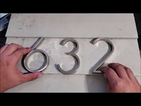 home house address floating number installation EASY UPGRADE DIY do it yourself how to