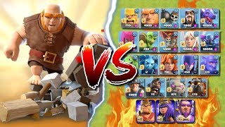 GIANT SURPRISE BUILDER HUT vs ALL TROOPS - Who Will Win? Clash of Clans Battle! CoC Event Challenge!