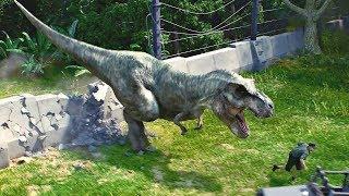 T-Rex & Velociraptors Huntin on Herbivorous Dinosaurs ! Jurassic World Evolution Game