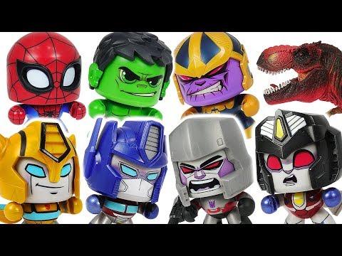 Transformers Optimus Prime, Bumblebee, Avengers Hulk VS Megatron, Thanos, dinosaur! #DuDuPopTOY