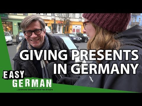 Giving Presents in Germany | Easy German 228
