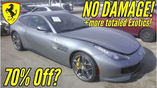 Download IAA: Cheapest Supercars at Salvage Auction! Ft. Flood Damaged Ferrari and Wrecked Nissan GTR! Mp3 and Videos