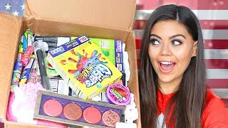 UK VS USA SWAP BOX WITH MissRemiAshten AMERiCAN BEAUTY, MAKEUP AND CANDY!!